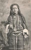 Tibet Thibetan Woman Derjeeling Femme Cpa Carte Voyagée + Timbre India Postage Cachet 1906 - Tibet