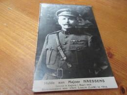 Hulde Aan Majoor Naessens, Geboren Te Eeghem 1964, Kommandant Van 't Fort Loncin Luik In 1914 - Pittem