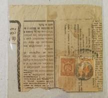 Frammento Di Giornale Affrancato Con 3 Cent. + 5 Cent. - Messico
