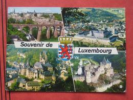 """Mehrbildkarte """"Souvenir De Luxembourg"""" (Luxembourg, Echternach, Clervaux, Vianden) / Nachgebühr Nachporto Nachtaxiert? - Cartes Postales"""