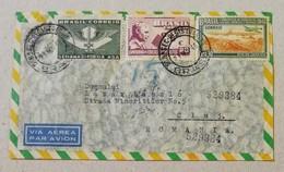 Busta Di Lettera Per Via Aerea San Paolo-Cluj (Romania) - 21/11/1949 - Storia Postale
