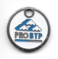 Jeton De Caddie  Argenté  PRO  BTP Groupe Protection Sociale  Voir  Description - Jetons De Caddies