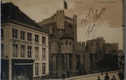 Gent - Gand / Le Chateau Des Comtes - P. Van Hulle Fabricant Van Tabac Et Cigares 1907 - Gent