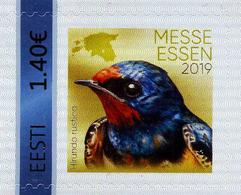 2019 Estonia, Fauna, Birds, Swallow, Stamp, MNH - Swallows