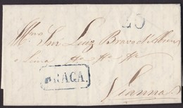 1840. BRAGA A VIANNA. MARCA BRAGA RECUADRADA AZUL. PORTEO 40 REIS. BONITA, AUNQUE SIN AÑO. - Portugal
