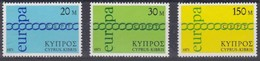 Cept Europa 1971 Chypre Cyprus Zypern  Yvertnr. 351-353 *** MNH Cote 4,50 Euro - Neufs