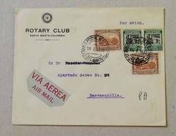 """Busta Di Lettera Per Via Aerea """"Rotary Club"""" Santa Marta Colombia Per Barranquilla - 18/01/1933 - Colombia"""
