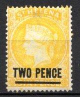 SAINTE HELENE - (Colonie Britannique) - 1884-94 - N° 14- 2 P. Jaune - (II) - (Victoria) - St. Helena