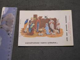 CONSTRUISEZ VOTRE CRECHE-12 Feuillets A Découper-Aide Aux Malades-Mutualites Chretiennes - Motiv 'Weihnachten'