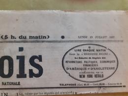 Journal Le Gaulois Du Lundi 10 Juillet 1922 - Journaux - Quotidiens