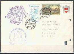 Tchéque République, Lettre Avec Publicité Affr  Mi 243+254 - Lettres & Documents