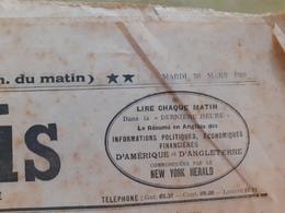 Journal Le Gaulois Du Mardi 30 Mars 1920 - Journaux - Quotidiens