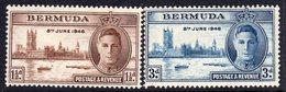 Bermuda GVI 1946 Victory Set Of 2, MNH, SG 123/4 (A) - Bermuda