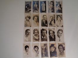Chromo ( 1326 )  Lot De 20 Chromos Ciné  Cinéma Stars Artiste  Acteur - Cigarettes Cards  Sigaret  Cigarettes - Chromos