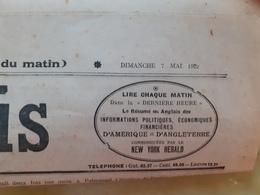 Journal Le Gaulois Du Dimanche 7 Mai 1922 - Journaux - Quotidiens