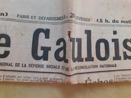 Journal Le Gaulois Du Jeudi 4 Mai 1922 - Journaux - Quotidiens