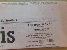 Journal Le Gaulois Du Jeudi 14 Fevrier 1924 - Journaux - Quotidiens