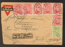 Lettre Expres (encadré) Et Trouvé à La Boite (encadré) De Gand Vers Jambes 1920 - Marcofilia