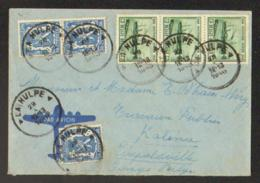 Lettre De La Hulpe Vers Léopoldville - Poststempel