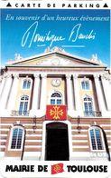 CARTE DE STATIONNEMENT A BANDE MAGNÉTIQUE VILLE DE TOULOUSE 31HAUTE-GARONNE - Francia