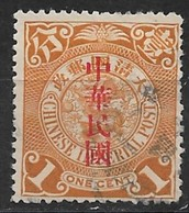 China 1912. Scott #161 (U) Dragon - 1912-1949 República