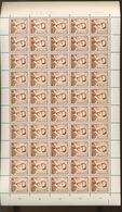 """Feuille Du 1028. Avec Variété """"mite"""" Sur Le Tp 50. Date 9-IX-70 - 1953-1972 Brillen"""