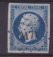 "FRANCE : PC 3171 . "" ST LUBIN EN VERGONNOIS "" . (40) . N° 14 . TB . ( CATALOGUE MATHIEU ) . - Marcophily (detached Stamps)"