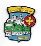 Pin' S   Ville, SNCF  AMICALE  AGENTS  DE  CONDUITE  BEZIERS  ( 34 ) - TGV
