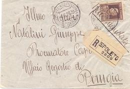 SPOLETO REGISTRED MAIL COVER  ASSICURATI 1928  (FEB200326) - Versichert