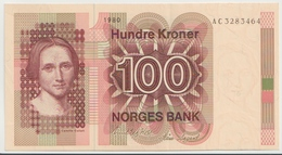 NORWAY P. 41b 100 K 1980 AUNC - Norway
