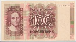 NORWAY P. 41b 100 K 1980 AUNC - Noruega