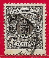 Luxembourg N°40 2c Noir 1880 O - 1859-1880 Coat Of Arms