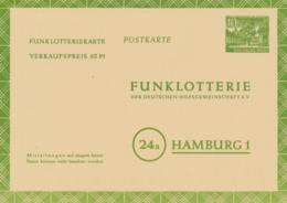 Berlin - 1953 - 10 Pf Funklotterie Postkarte - Unused - Postkarten - Ungebraucht