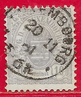 Luxembourg N°42 10c Gris-violet (LUXEMBOURG 20 11 81) 1880 O - 1859-1880 Coat Of Arms