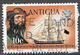 "1970 10c ""Blackbeard"" And Pirate Ketch, Used - 1960-1981 Autonomie Interne"