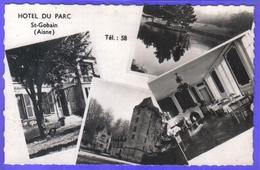 Carte Postale 02. Saint-Gobain  Hotel Du Parc   Très Beau Plan - France