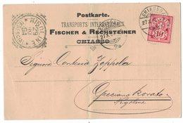 IZ104    HELVETIA 1894 PERFIN TRASPORTS INTENATIONAUX FISCHER & RECHSTEINER CHIASSO TO NIGOLINE - Covers & Documents