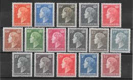 Luxembourg N°413A à 421C 1948-1953 * - Luxemburg