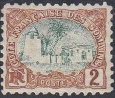 Somali Coast, Scott #35, Mint Hinged, Tadjoura Mosque, Issued 1902 - Côte Française Des Somalis (1894-1967)