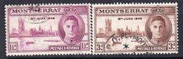 Montserrat GVI 1946 Victory Set Of 2, Used, SG 113/4 (A) - Montserrat