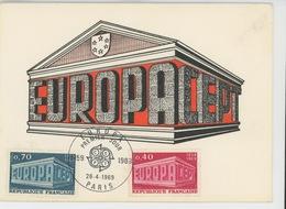 TIMBRES - EUROPA CEPT - Carte Premier Jour PARIS 26-04-1969 - Europa-CEPT