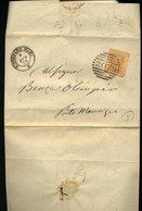 SP88 LETTERA 20 CENT  DA S. STEFANO MAR A PORTO MAURIZIO 1878 ANNULLO NUMERALE A SBARRE 2078 - 1861-78 Vittorio Emanuele II