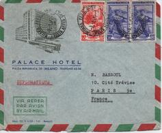 ITALIE      LETTRE  AVEC PUBLICITE POUR  PALACE HOTEL  MILANO - 1946-.. République