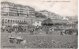 ALGER - LA GARE ET LES BOULEVARDS - Alger