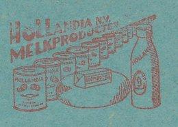 Meter Cover Netherlands 1937 Milk Factory - Butter - Cheese - Vlaardingen - Food