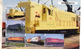 Locomotives  -  Baldwin AS-416  -  5v Feuillet Mint/Neuf/MNH Imperf/Non Dentelé - Trains