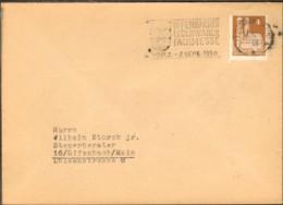 Bizone 4 Pfg.Bauten V.1950 Auf Drucksache A.Offenbach M.Werbestempel Offenbacher Lederwaren Fachmesse - Zone Anglo-Américaine