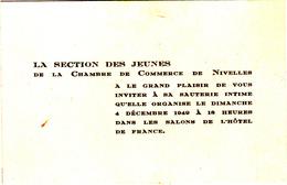 Section Des Jeunes De La Chambre De Commerce De Nivelles - Vieux Papiers