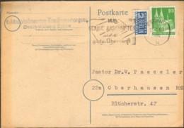 """Bizone 10 Pfg.Bauten U.Notopfer  V.1949 A. Karte A.Essen M.Serienstempel """"Nur Genaue Anschriften Sichern...."""" - Zone Anglo-Américaine"""