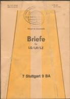 Beutelfahne Mit Bahnpoststempel Karlsruhe-Stuttgart Zug 763 - Zone Anglo-Américaine